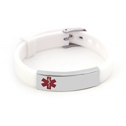 Black Silicone Medical Alert Bracelet