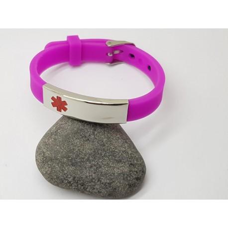 Black Silicone Medical Alert Bracelet