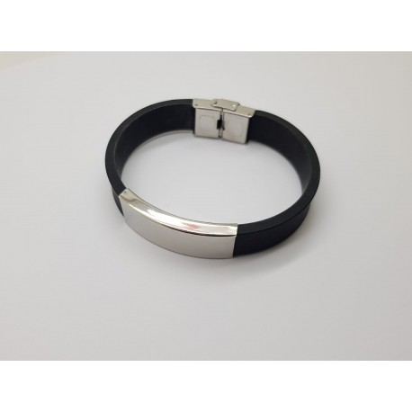 Stainless Steel & Silicone Bracelet 15mm x 210mm