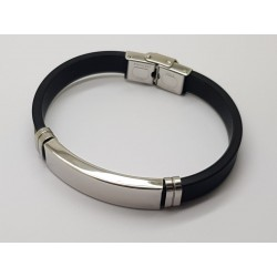 Stainless Steel & Silicone Bracelet 10mm x 210mm