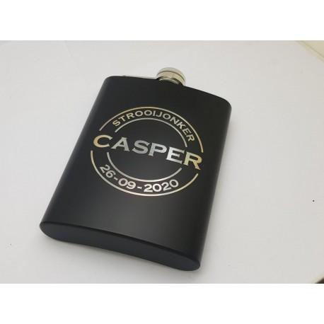 Black Personalised Hip Flasks 8oz (240ml)