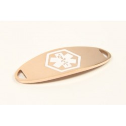 Mini White and Rose Gold Stainless Medical ID Tag