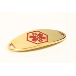 Mini Red and Gold Stainless Medical ID Tag
