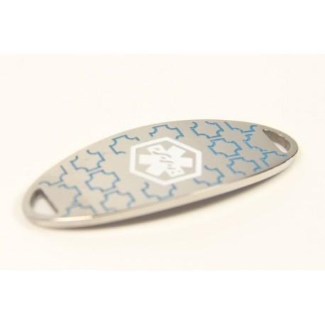 Mini Aqua Stainless Medical ID Tag