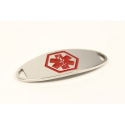 Mini Red Classic Stainless Medical ID Tag