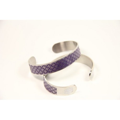 Tracy Medic Alert Cuff Purple