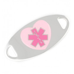 Shades Of Pink Stainless Medical ID Tag