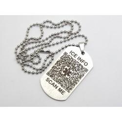 QR Code Medical Alert Tags, Keyring or Bag Tag