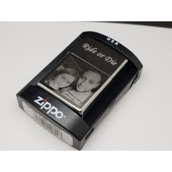 Photo Engraved Genuize Zippo Lighter one side engraved
