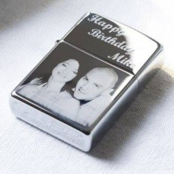 Photo Engraved Imitation Zippo Lighter Both Sides Engraved