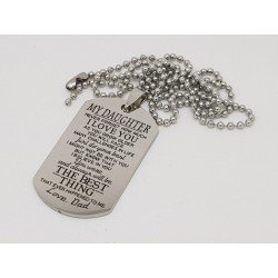 To My Daughter Printed Dog Tag