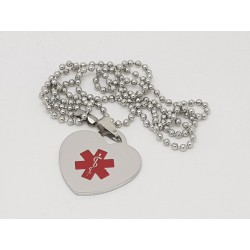 Medical Alert Heart Tag