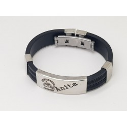 Stainless Steel & Rubber Bracelet 1