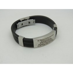 Stainless Steel & RubberMedical Alert Bracelet