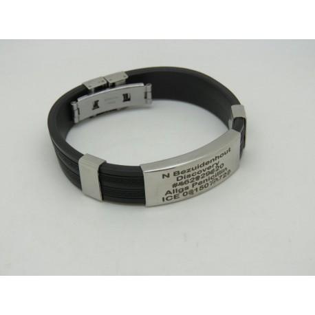 Stainless Steel & Rubber Bracelet 1