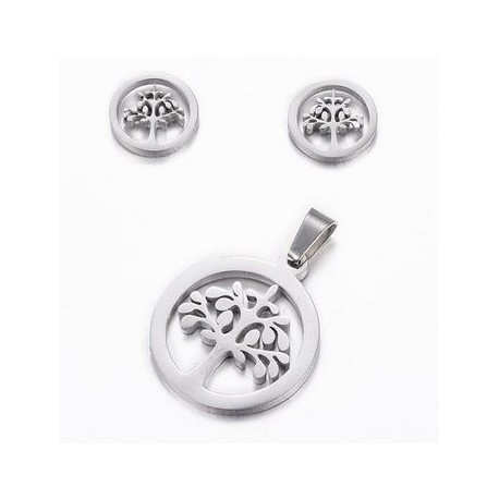 Tree Of Life Pendant and Earring Set