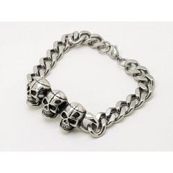 Big Curb  Skull Bracelet