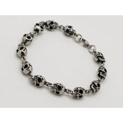 Thin Skull Bracelet
