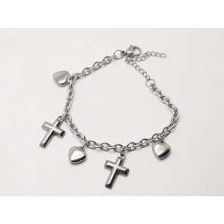 Heart & Cross Bracelet