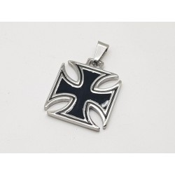Black Iron Cross Pendant