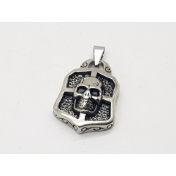 Skull on Shield Pendant