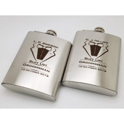 Best Man, Groomsman Flasks 5oz (150.ml)