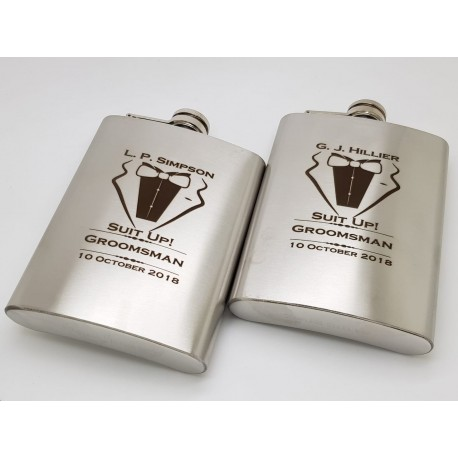 Best Man, Groomsman Flasks 5oz (150.ml)