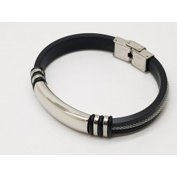 Stainless Steel & Rubber Bracelet 2