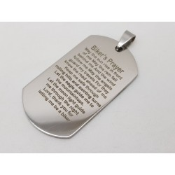 Bikers Prayer Dog Tag