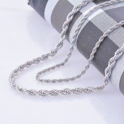 2mm x 60cm Stainless Steel Rope Chain