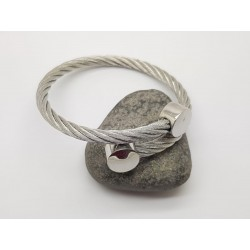 Stainless Steel Twisted Wire Bangle