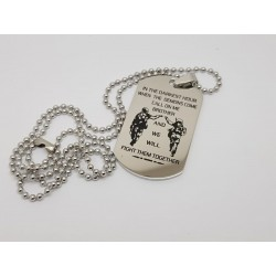 Call on me Brother printed Dog Tag