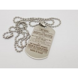 To My Son Engraved Dog Tag 2