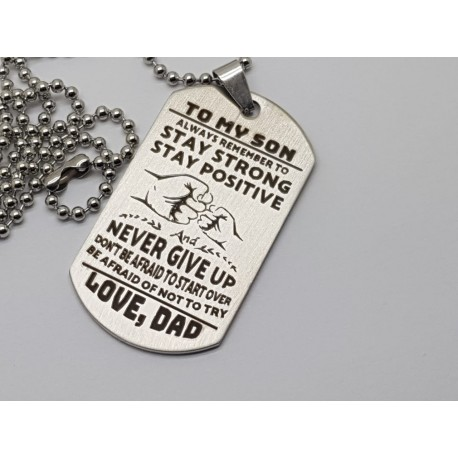 To My Son Engraved Dog Tag 3