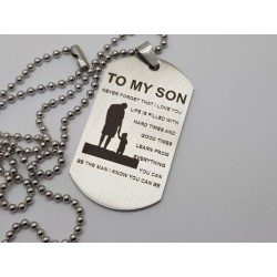 To My Son Engraved Dog Tag 4