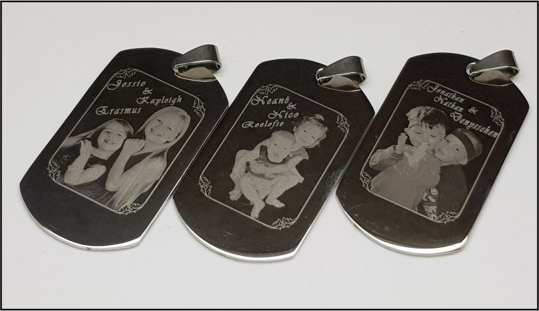 Photo engraved Dog Tag